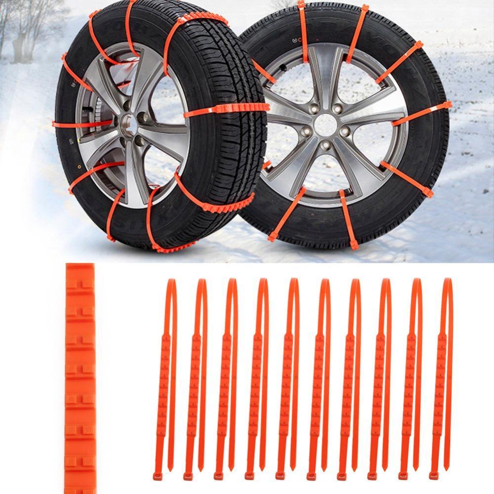 Tire Snow Straps 10 PCS Set